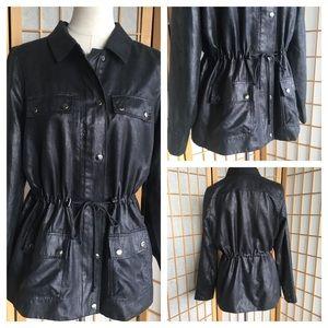 Susan Graver Black Jacket SZ M